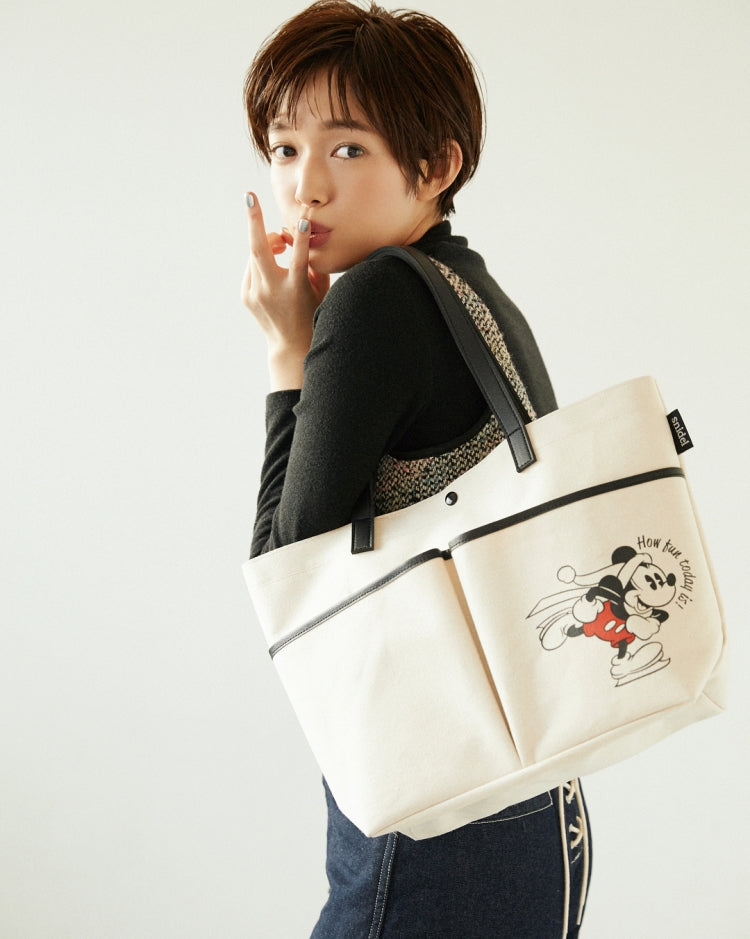 Japanese magazine gift Snidel X Mickey Mouse White Shoulder Bag