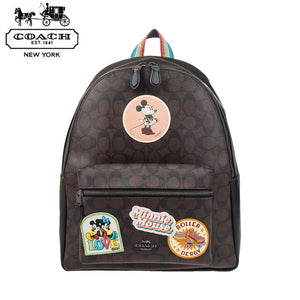 COACH x MINNIE Mouse Signature Disney Collaboration Rucksack Backpack