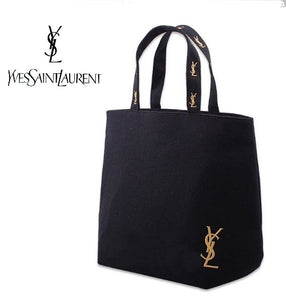 Japanese magazine gift YSL embroidery Logo Canvas tote bag