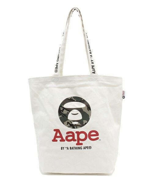 Japanese magazine gift Aape white Canvas tote bag