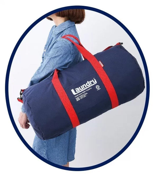 Japanese magazine gift Laundry Blue Duffel Bag