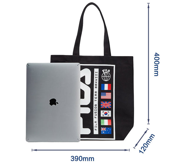 Japanese magazine gift FILA Canvas tote bag 2 Colour
