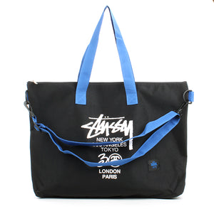 Japanese magazine gift Stussy 30th Anniversary Blue Shoulder Strap Shoulder Bag