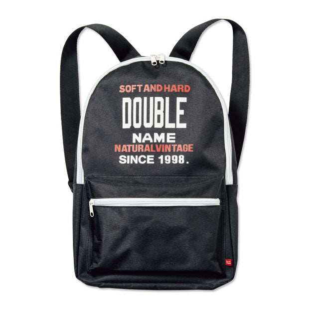 Japanese magazine gift Double Name Black Backpack
