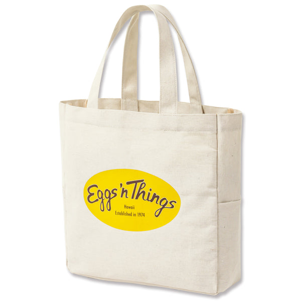 Japanese magazine gift Eggs N Things White canvas bag