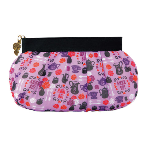 Japanese magazine gift 20th anniversary purple rose flower Clutch Bag