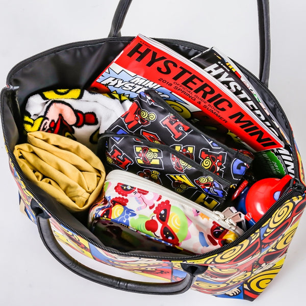 Japanese magazine gift Hysteric waterproff shoulder bag with zipper
