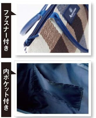 Japanese magazine gift Aquascutum check Pattern Shoulder Bag with zipper