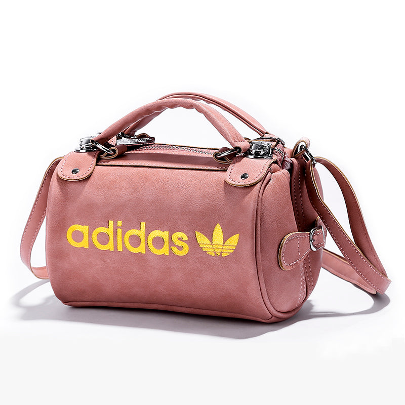Adidas faux leather Small cylindrical leather handbag 3 Colour