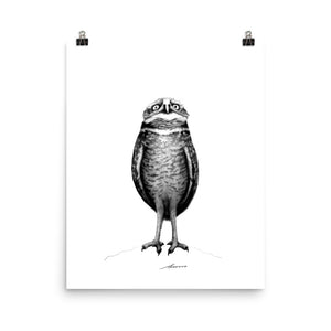 Stand Tall Owl Print