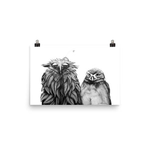 Odd Couple Owl Print