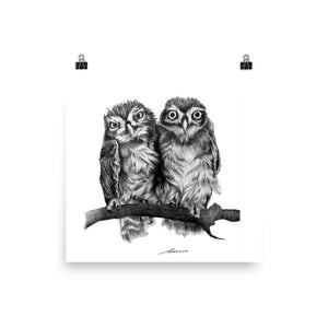 Wet Hair Owl Print