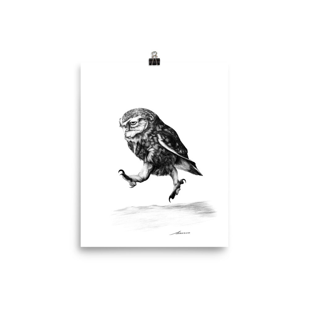 On a Mission Owl Print