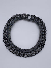 Load image into Gallery viewer, Crochet and Up Cycled Collar Necklace