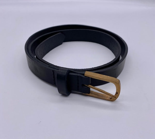 Manuelle Guibal Black Leather Belt