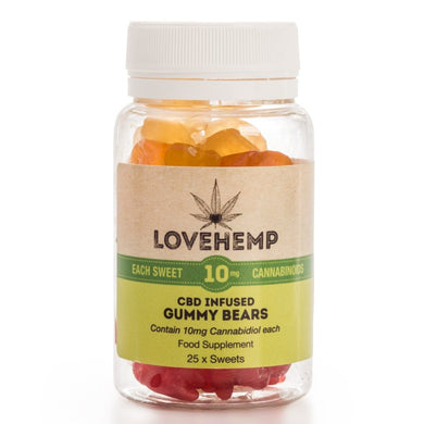 Love Hemp CBD infused gummy bears