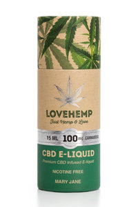 Love Hemp CBD e-liquid 15ml 100mg