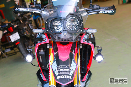 Honda CRF250 Rally Spotlight brackets data-fancybox=