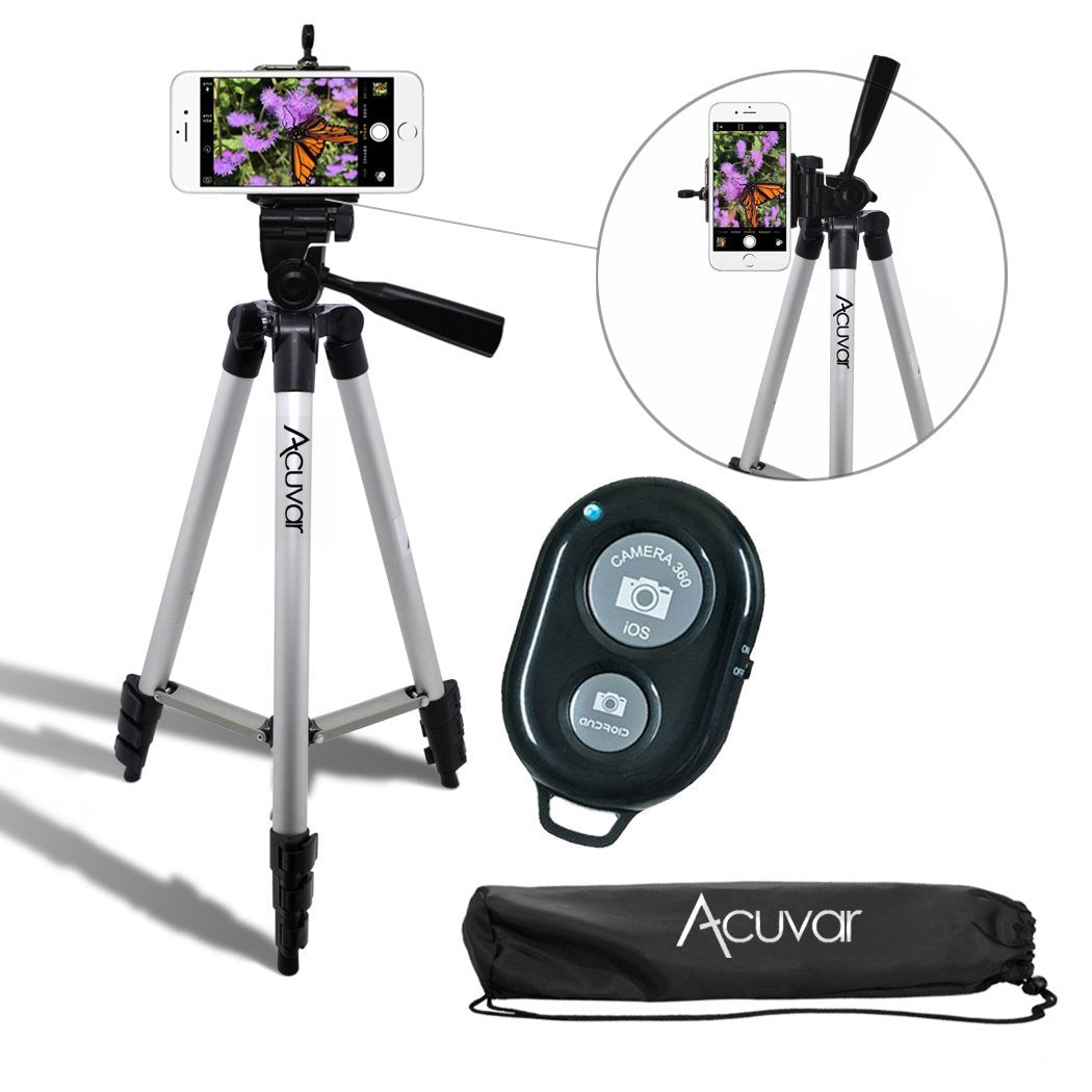 Camera Tripod with Universal Smartphone Mount