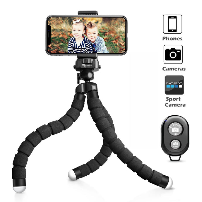 Flexible Tripod with Wireless Remote Shutter for iPhone & Android