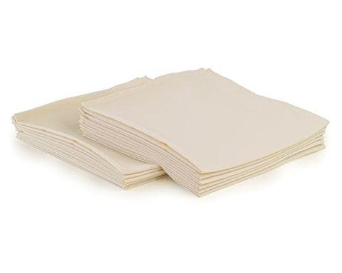 Yourtablecloth Cloth Dinner Napkins100% Spun Polyester With Hemmed Edges 20X 20Set Of 12 (Ivory)