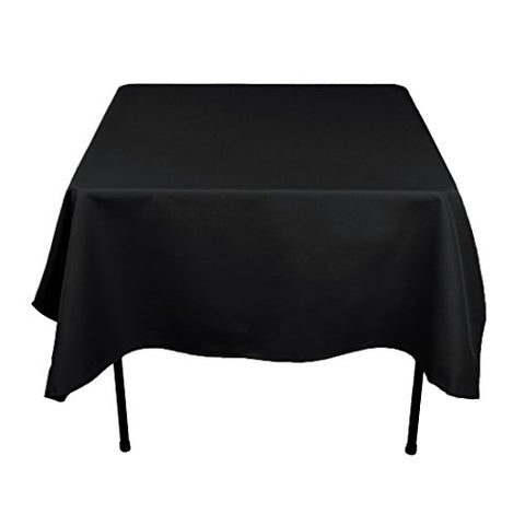 Linentablecloth 70 In. Square Economy Polyester Tablecloth Black