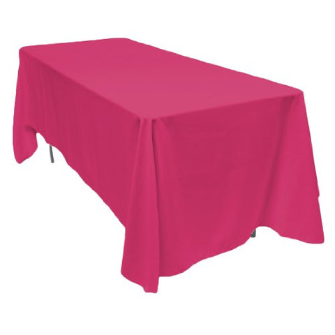 Linentablecloth 70 X 120-Inch Rectangular Polyester Tablecloth Fuchsia