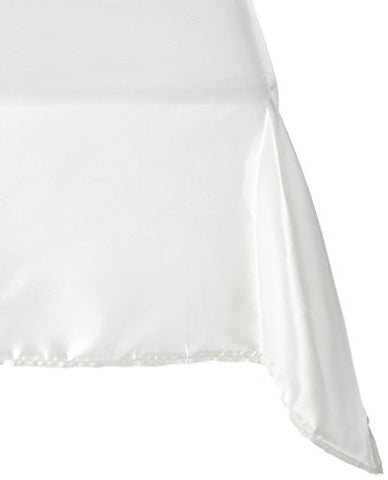Linentablecloth 60 X 102-Inch Rectangular Satin Tablecloth Ivory