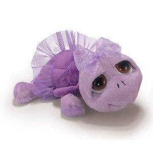 Russ Berrie Ballerina Peepers Twirly Purple Plush Stuffed Turtle With Tutu 5