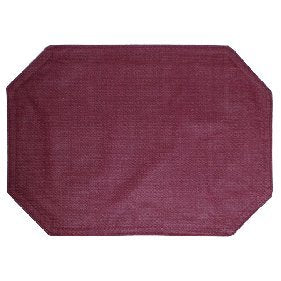 Vinyl Placemat Burgundy - Restaurant Quality