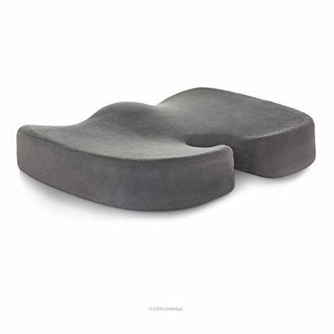 Linenspa Orthopedic Gel Foam Seat Cushion - Tailbone / Coccyx Comfort - Support For All-Day Sitting And Back Pain Relief