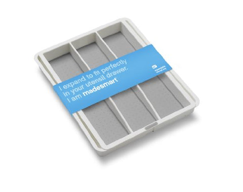 Madesmart Expandable Utensil Tray, White