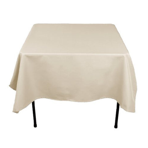 Linentablecloth 70-Inch Square Polyester Tablecloth Silver