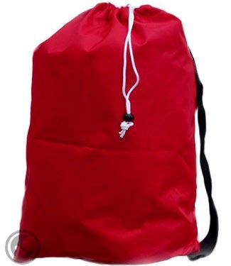 Large Laundry Bag With Drawstring And Strap, Color: Red, Size: *30X40, Choose From 16 Colors