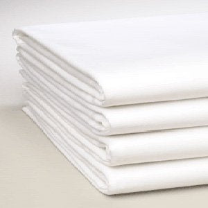 Linteum Textile Percale Twin Fitted Sheets 180 Thread Count 36X80X9 In. White