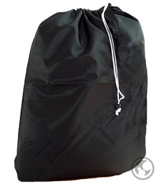 Laundry Bags With Drawstrings And Locking Closures, Color: Black, Small Size: 22X28