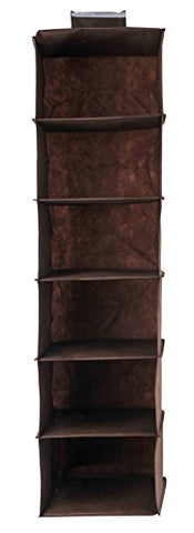 Luxehome Fabric 6 Shelves Hanging Storage Accessory Organizer (Coffee)