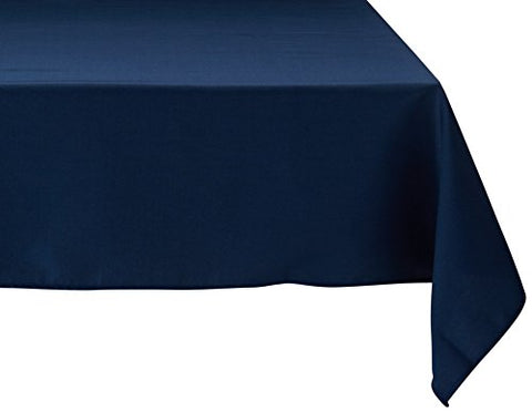 Linentablecloth 54-Inch Square Polyester Tablecloth Navy Blue