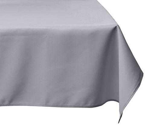 Linentablecloth 60 X 126-Inch Rectangular Polyester Tablecloth Silver