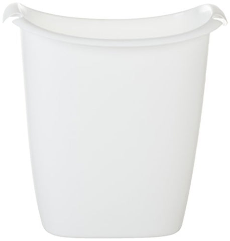Rubbermaid Fg238500Wht Bag Recycler Wastebasket, 14-Quart, White