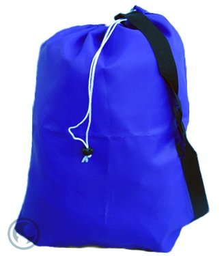 Medium Laundry Bag With Drawstring, Shoulder Strap, Locking Closure, Color: Royal Blue, Size: 24X36