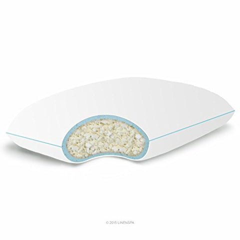 Linenspa Shredded Memory Foam Pillow With Gel Memory Foam, Queen