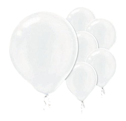 Party Perfect Plain Pearlized Balloon Decorations, White, Latex, 12