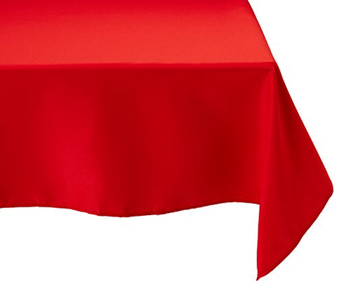 Linentablecloth 70-Inch Square Polyester Tablecloth Red