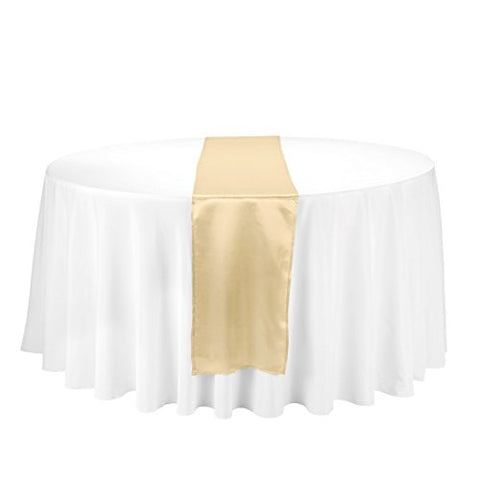 Linentablecloth 14 X 108-Inch Satin Table Runner Gold