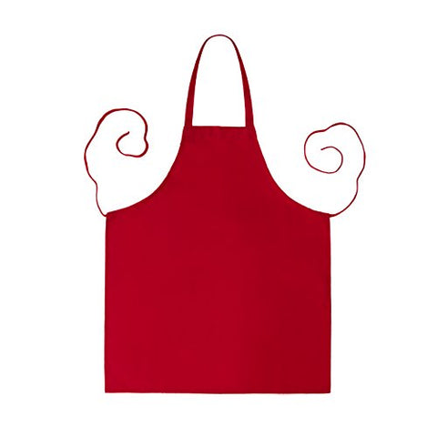 Linteum Textile Commercial Restaurant Kitchen Chef Utility Red Bib Apron 28X32 In.
