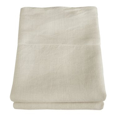 Linoto 100% Linen Pillowcases Set Ivory King Size 39X20 Made In Usa-Free Shipping In Continental Usa-Pre-Washed