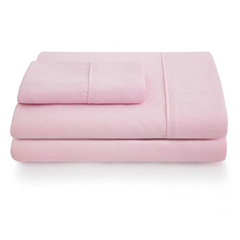 Linenspa Ultra Soft, Wrinkle Resistant Double Brushed Microfiber Sheet Set - Deep Pocket Design - Twin Xl, Pink