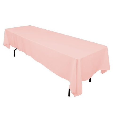 Linentablecloth 60 X 126-Inch Rectangular Polyester Tablecloth Pink
