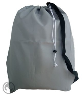Large Laundry Bag With Drawstring And Strap, Color: Silver/Gray, Size:30X40, Choose From 16 Colors